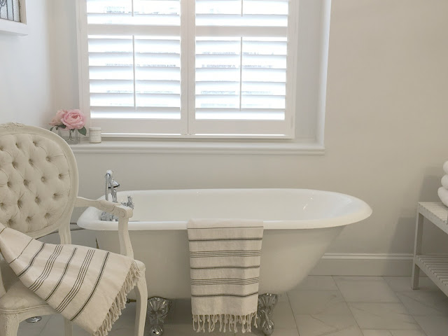 Master Bathroom renovation in Chicagoland fixer upper by Hello Lovely Studio