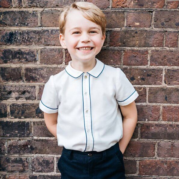 Prince George was photographed in Clarence House, after the christening of his brother Louis earlier this month. Princess Charlotte. Kate Middleton