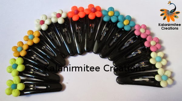 kalanirmitee: lamasa clay- clay flowers- flowers- clay craft- hairclips- hair accessories