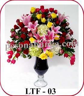 bunga meja cantik dan mewah