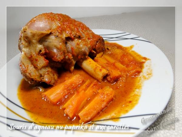 Souris d'agneau au paprika et carottes (à la cocotte minute SEB)