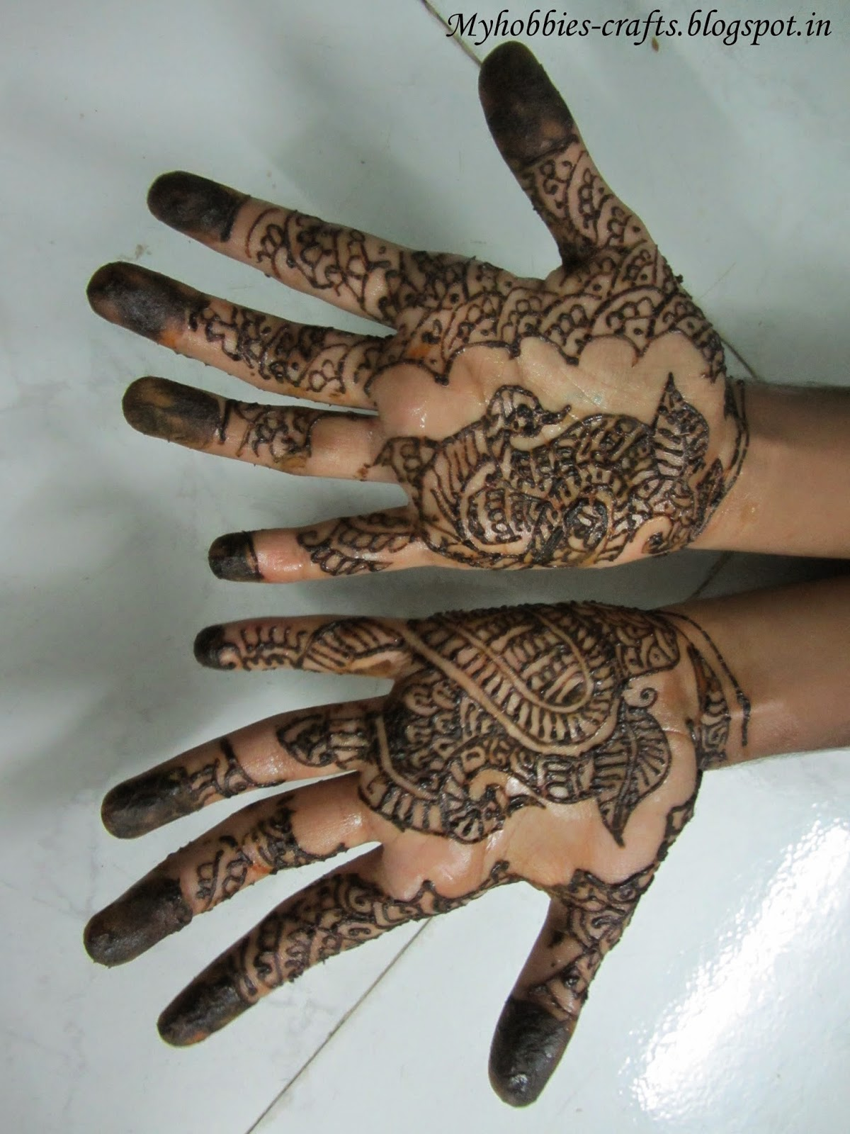 My Hobbies And Crafts Simple Mehndi Designs For Kids