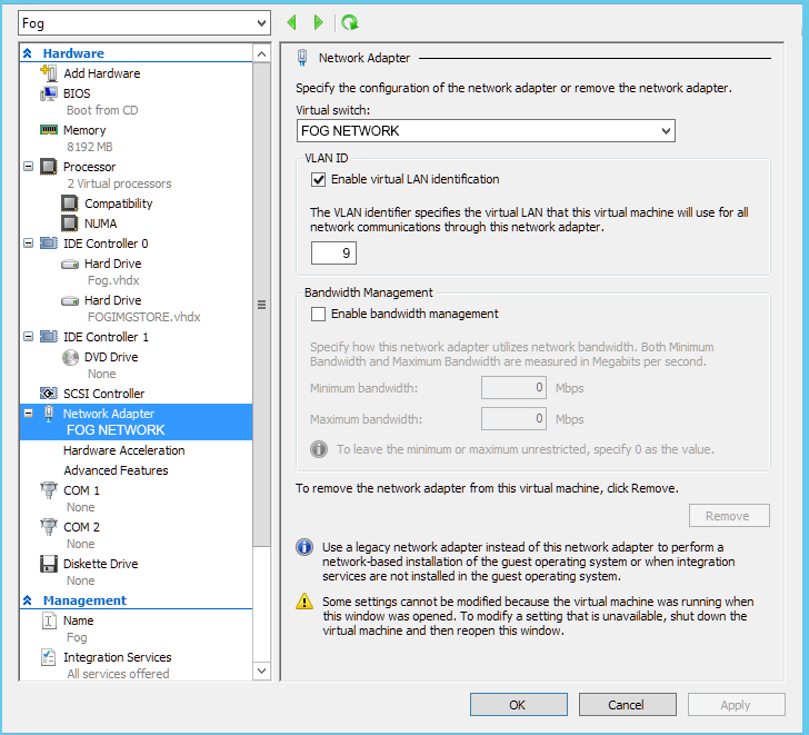 The OptionKey Blog: Setting Up Fog Project On Hyper-V and using PFSense