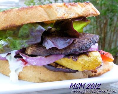 Grilled Veg Sandwich w/ Herb Mayo