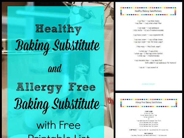 Healthy and Allergy Free Baking Substitution