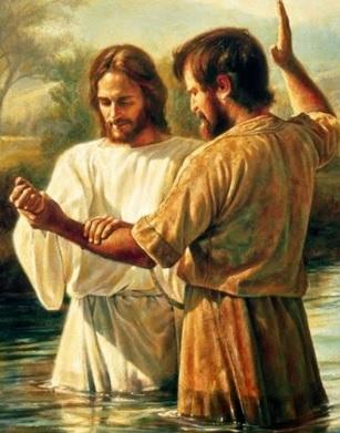 Imagen de Jesus en su bautizo a color