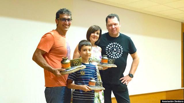Entrega de premios a José Luis Rodríguez Morán, Markel Villaverde y Rosana Morales