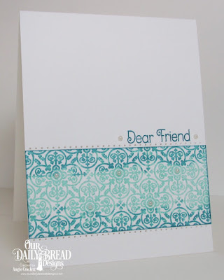 ODBD Medallion Background, ODBD Medallion Sentiments, Card Designer Angie Crockett