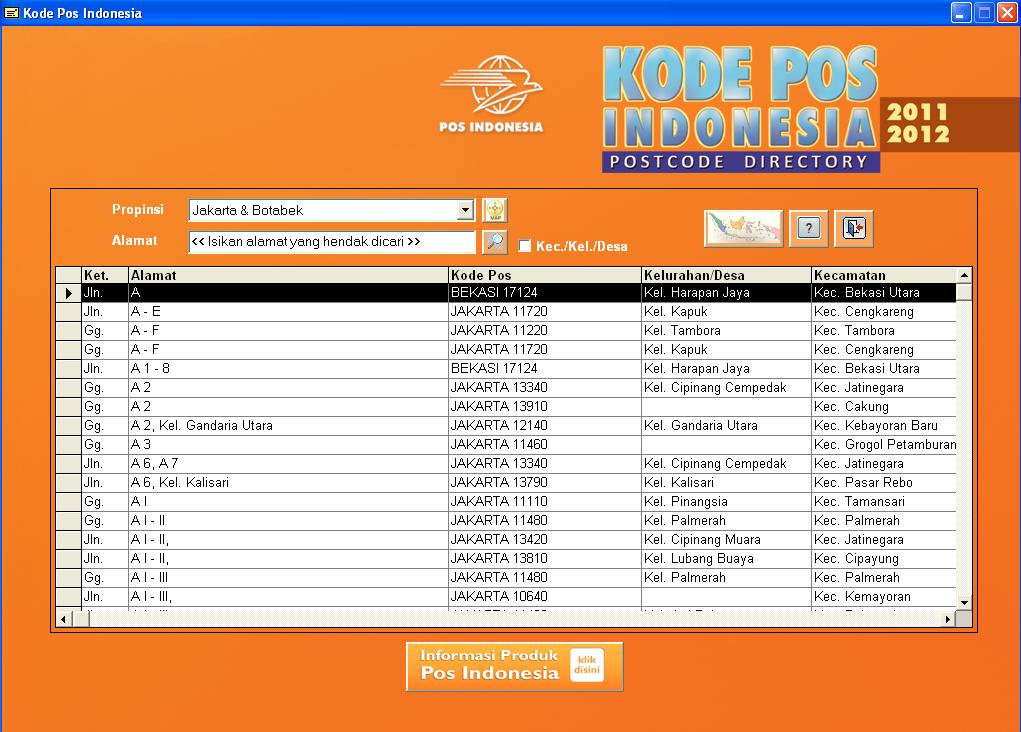 Software Kode Pos Indonesia 2012 // rantersverlers cf