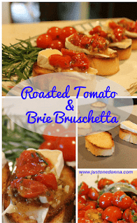 Herb Roasted Tomato and Brie Bruschetta