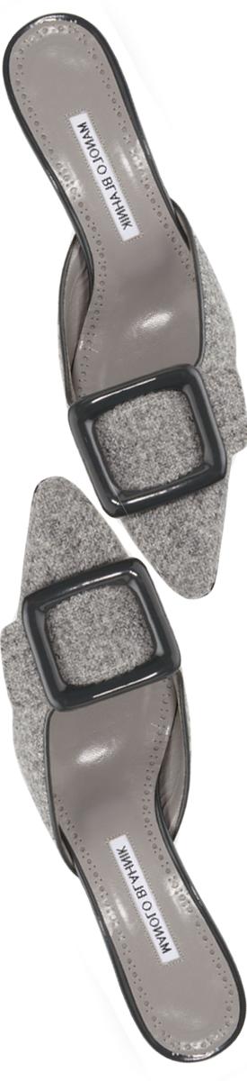 Manolo Blahnik Maysale Tweed 50mm Mule