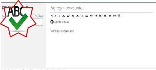 Aprende cómo se utiliza el corrector ortográfico en Hotmail