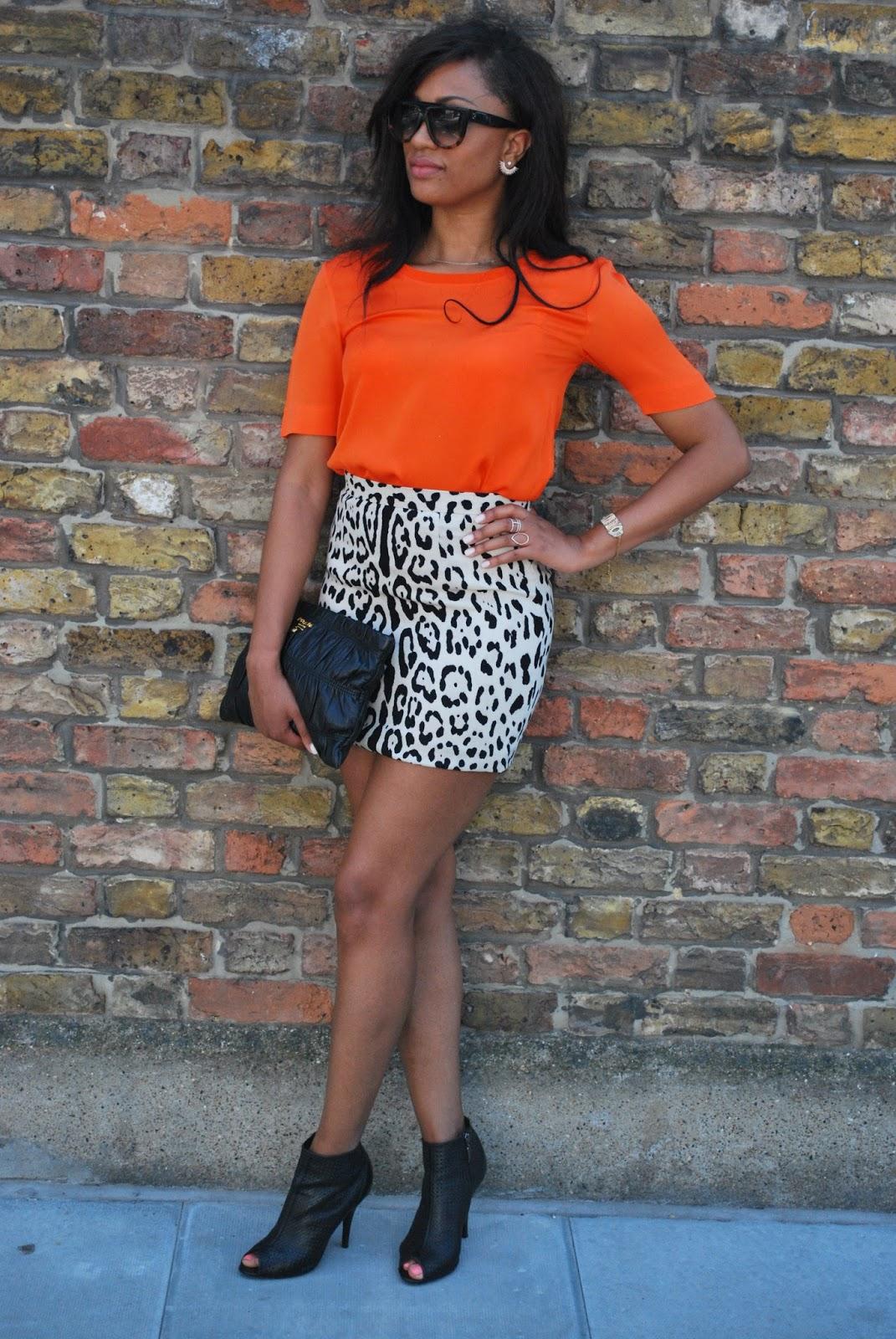 Dolce & Gabbana: Snow Leopard Skirt