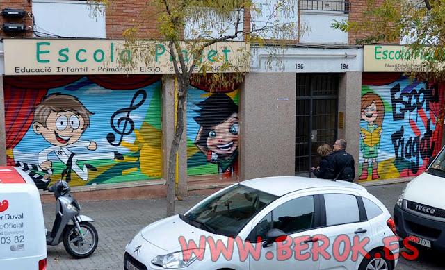 Graffitis persianas Escola Piaget Carmelo