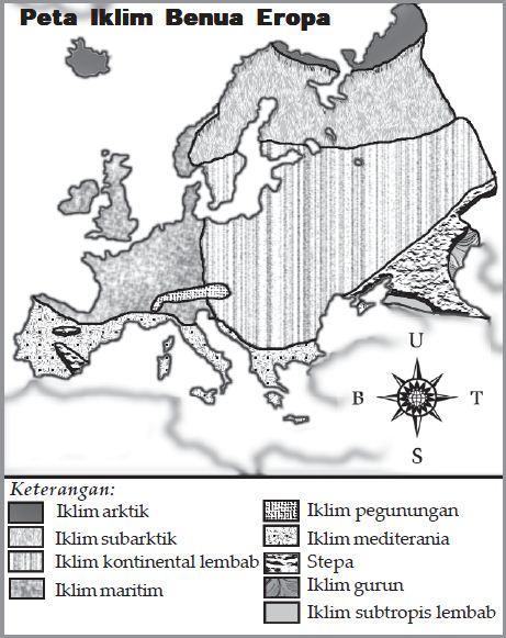 Peta Iklim Benua Eropa