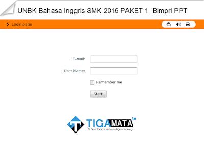 Simulasi UNBK SMK 2019 Swf