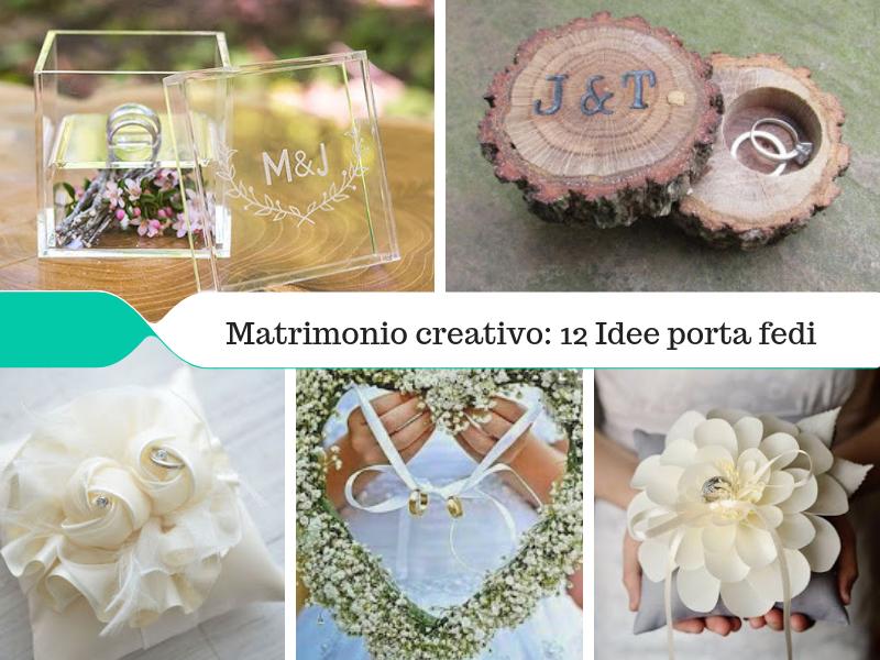 Matrimonio Creativo Idee Porta Fedi Originali Kreattivablog