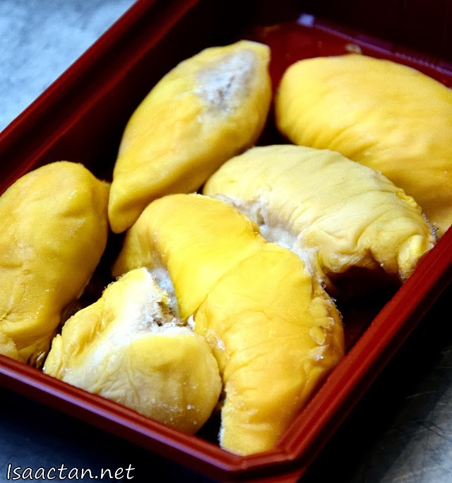 #1 Musang King Durian (RM38/pack), D24 Durians (RM28/pack)