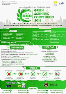 Lomba Karya Tulis Ilmiah Nasional Green Scientic Competition 2018