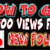 How to get more views in under an hour on YouTube 2018