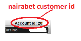 NAIRABET CUSTOMER ID