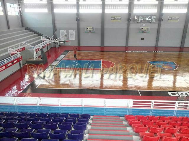 Lantai kayu cocok untuk lapangan bola basket