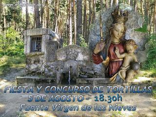 Concurso de Tortillas y merienda en la Virgen de Las Nieves