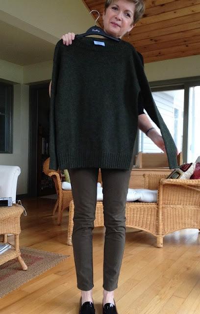 Prada sweater, Massimo Dutti jeans, Stuart Weitzman loafers.