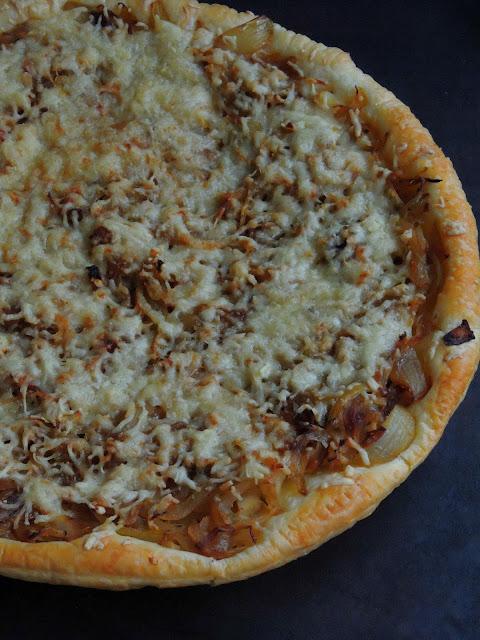 Caramelised Onion Tart, Cheesy Onion Tart