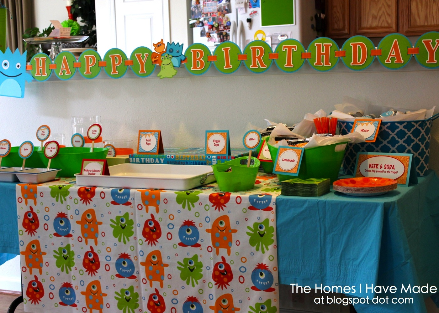 A Monster of a First Birthday Party The Homes I Have Made