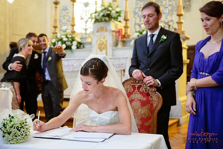 firma del registro matrimonio Alessandria