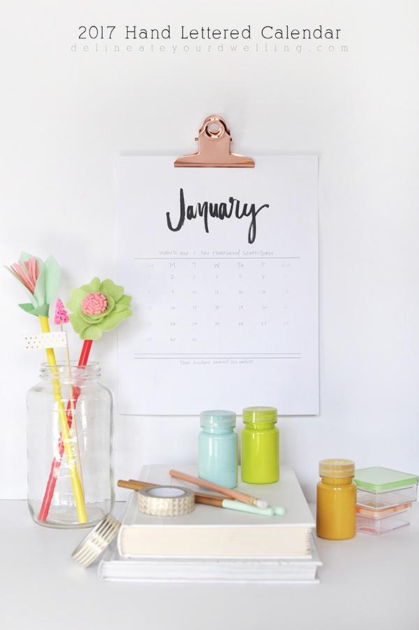 piękny kalendarz 2017 do druku do pobrania za darmo delianeate your dwelling