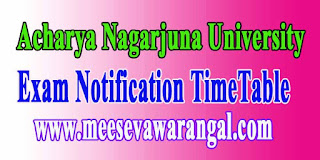 Acharya Nagarjuna University B.Arch Exam Time Table