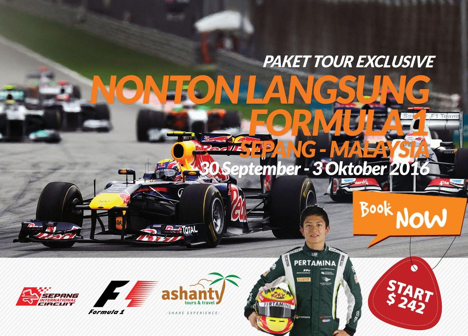 Paket Tour Nonton F1 Sepang (Malaysia) 2016 + Kualalumpur