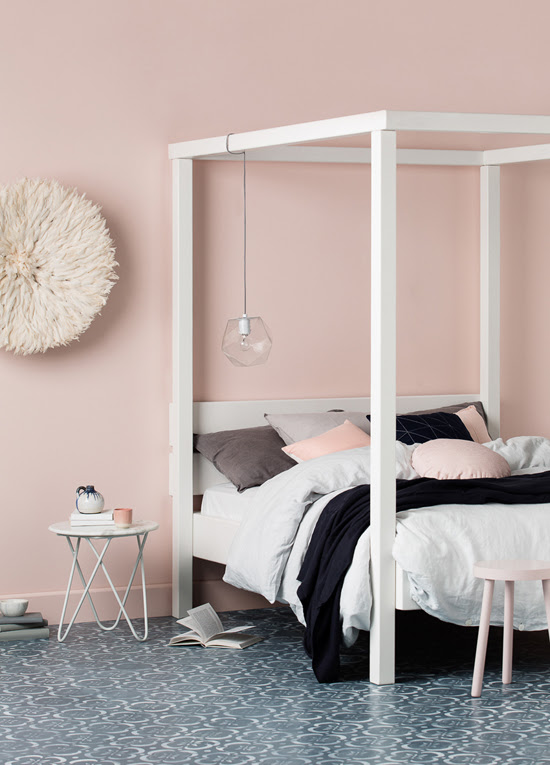 Safari Fusion blog | On Safari | Spring 2016 | Dreamy bedroom by Haymes paint | Photography Martina Gemmola, Styling Ruth Welsby and Colour Styling Wendy Rennie © Haymes