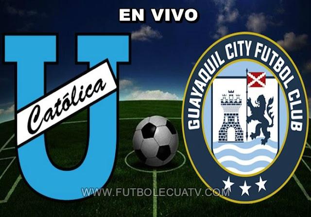 Universidad Católica recibe a Guayaquil City en vivo a partir de las 14h15 horario de nuestro país a jugarse en el campo Olímpico Atahualpa por la fecha 10 de la Serie A Ecuador, siendo el árbitro principal Mario Romero con transmisión del canal autorizado GolTV.