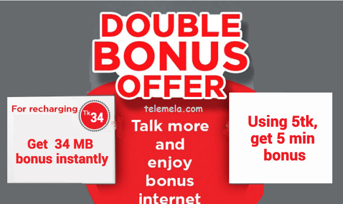 Robi 34Tk Recharge Double Bonus Offer