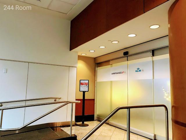 SFO Air France KLM Lounge entrance