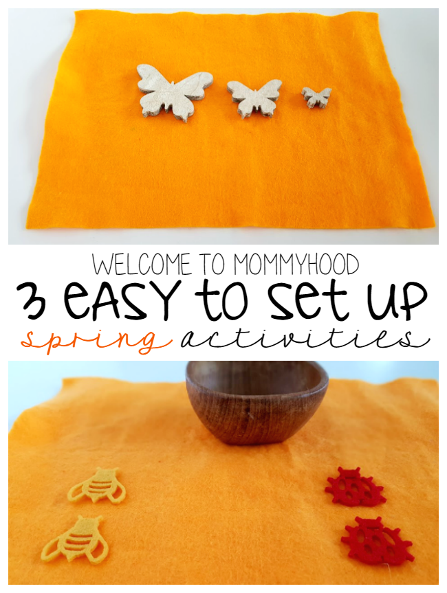 3 easy to set up Montessori inspired Spring activities for toddlers by Welcome to Mommyhood #montessori, #springactivities, #spring, #montessoriactivities