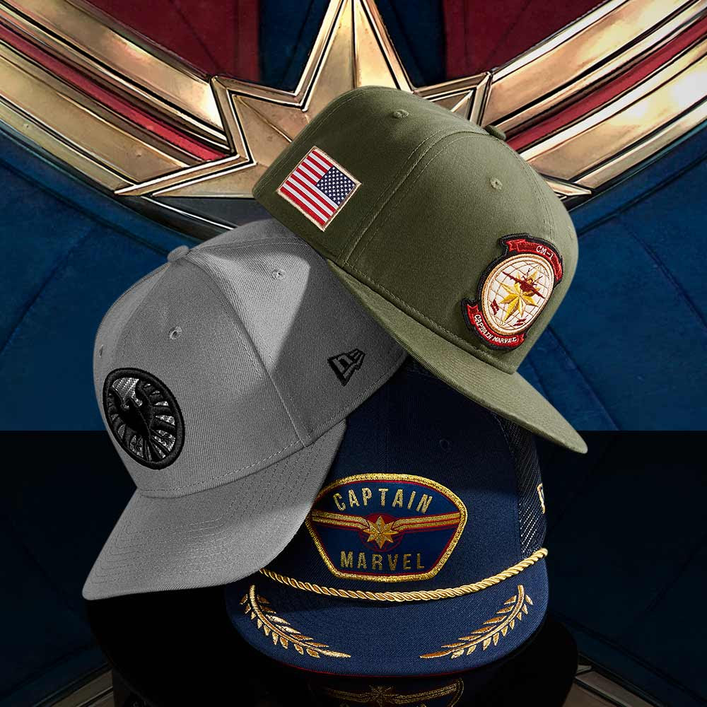99a90db070d The Blot Says...  Captain Marvel Hat Collection by New Era Cap x Marvel