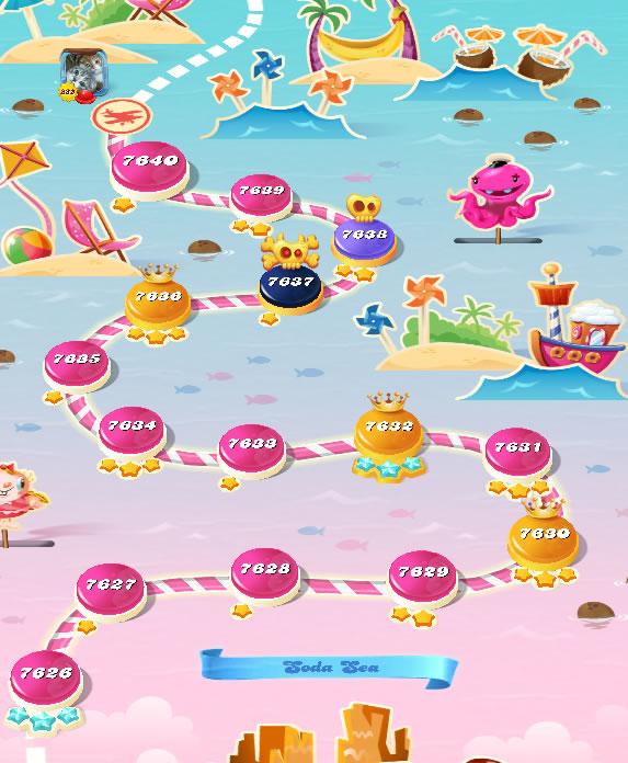 Candy Crush Saga level 7626-7640