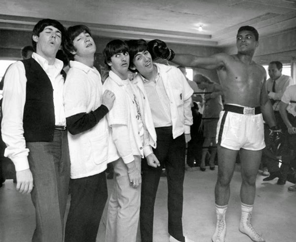 Ultimate Collection Of Rare Historical Photos. A Big Piece Of History (200 Pictures) - The Beatles meet Muhammad Ali