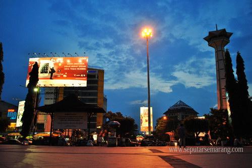 Foto Simpanglima Semarang Senja Kala