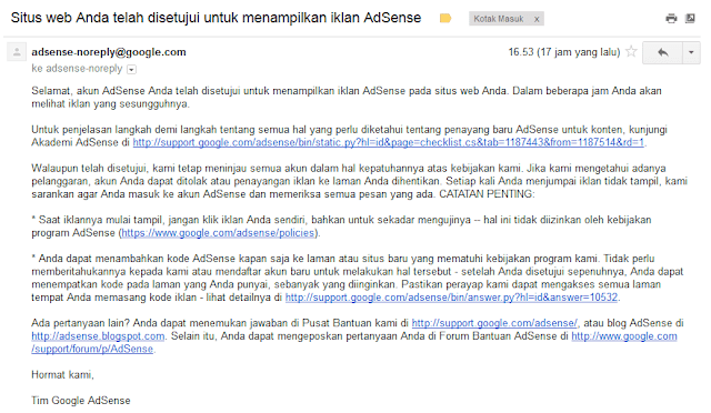 Cara Upgrade Adsense Hosted ke Non Hosted Terbaru