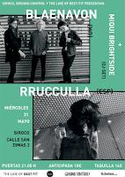 Concierto de Blaenavon, Rrucculla y Miqui Brightside en Siroco