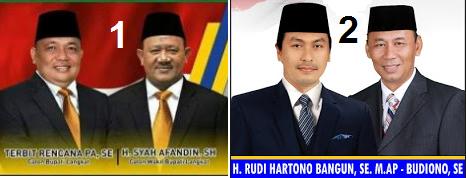 Dua pasang calon bupati dan wakil bupati kabupaten Langkat 2018