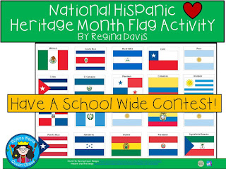 https://www.teacherspayteachers.com/Product/A-National-Hispanic-Heritage-Month-Flag-Activity-or-Contest-2778277