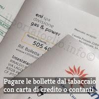 pagare le bollette dal tabaccaio
