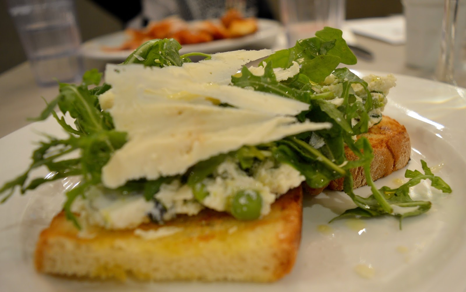 Carluccio's - intu Metrocentre | Children's Menu Review - lunch menu deal - pea, mint and ricotta brushetta