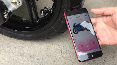 Cảm biến áp suất lốp xe motor, xe máy